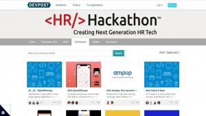 Screenshot Übersicht HR Hackathon Online Projekte